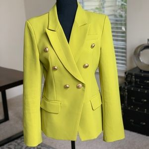 Jackets & Blazers - Double-Breasted Lime Green Blazer
